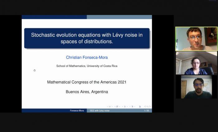 Vicerrectora de Investigación e Innovación UV organizó y moderó bloque en el Congreso Matemático de las Américas 2021