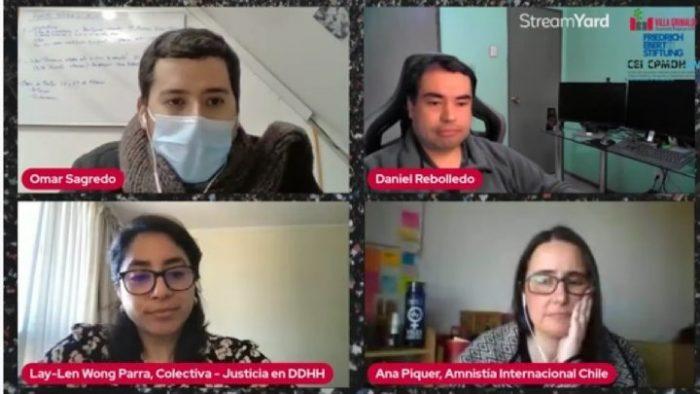 CEI CPMDH UV coorganizó conversatorio sobre violaciones a los DDHH durante el estallido social