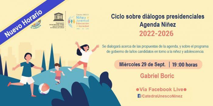 Cátedra UNESCO Niñez y RUPI conversarán con Gabriel Boric acerca de sus propuestas sobre niñez y adolescencia